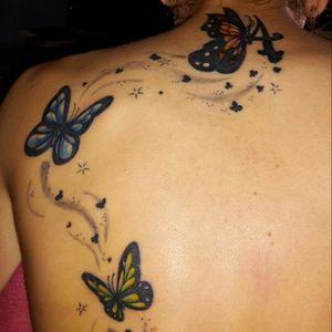 #redmonkey #redmonkeytattoo #workhard #work #tattoo #ink #tattooink #animals #butterfly #stars #colors #butterflytattoo #star #red #blue #green #awesome #InkTattoo #CoverUpTattoos #coverup #letsgo