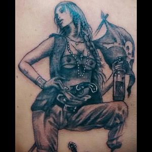 Tattoo pirata em andamento #abmaelboni #Tattoodo #tattoo #tatuagem #pretoecinza #realismopretoecinza #blackAndWhite #blackandgrey