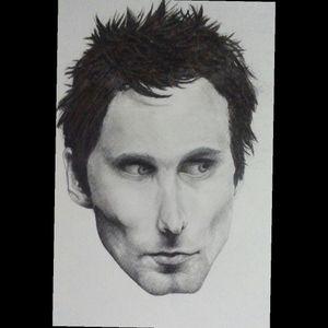 Matt Bellamy from Muse, charcoal & graphite