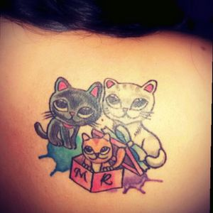 #colorfull #cats #tattoo <3