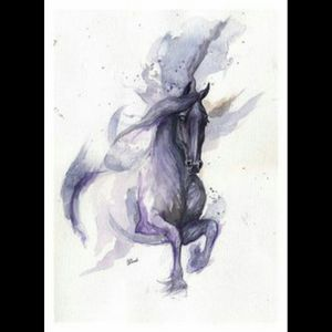 My latest want #dreamtattoo a #watercolor #Friesian #horse in memorial of my dream horse I had to put down this past November 2015 after being honored to own him for almost ten years 😭💔