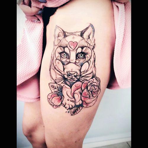 #Wolf #Rose #Pink #Romantic