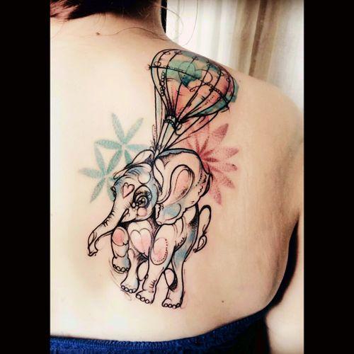 Romantic elephant #Elephant #Balloon #Romantic #Colors
