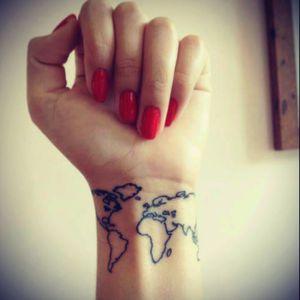 #map #worldtattoo #wristattoo #traveltattoo #worldtraveller