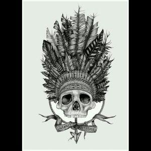 Warrior. #dreamtattoo #warrior #nativeamerican #arrow  #skull