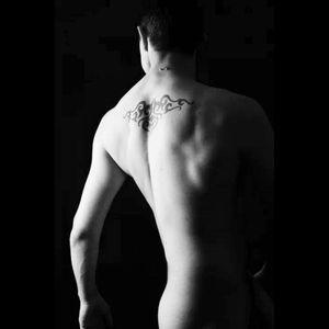 #upperback #tribal #tribaltattoo #nude