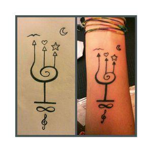 #firtstattoo #primotatuaggio #italy #2013 #star #stella #infinito #infinity #music #heart #cuore #bird #sea #moon #luna #poseidon #mare #tattoo #likeforlike