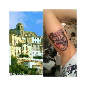 #thirdtattoo #third #2016 #montesanbiagio #town #sea #sunset #oldschool #sheel #tattoo #likeforlike #colours