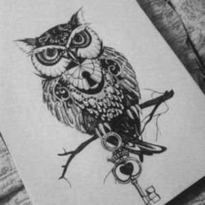 #dreamtattoo Love the meaning of owls tattoo. Like this one but a little more life like.