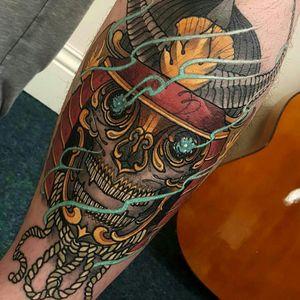#tibetanskull #skull #samurai #japanese #kapala #sunderland #ElliottWells #ink #tattoo #England #UK