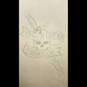 #pencildrawing #sketchtattoo #skulltattoo #dagger