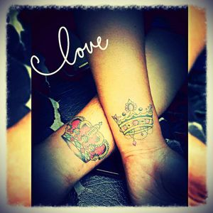 #coupletattoo...... me and my girl