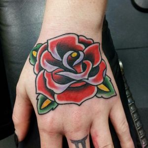 Traditional rose using @thesolidink by me @djwtattoos