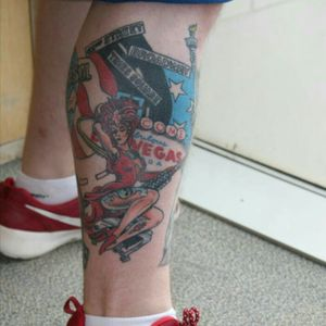 #vegas #showgirl #america #tattoo #legpiece #legsleeves