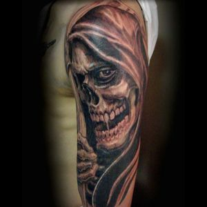 #dreamtattoo grim reaper to start off my death sleeve!
