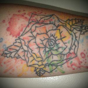 🌹 #rosetattoo #watercolor #followme