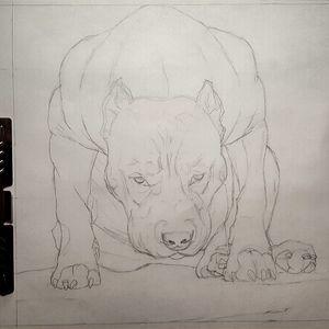 Mad dog... #badass #pitbulltattoo #blackandgrey #pencildrawing #drawing