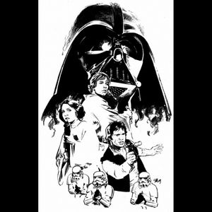 I would love this special Star Wars art on my arm,I'm a superfan of this saga and is definitely one of my mayor art that I would love to have on my future sleeve tattoo. #dreamtattoo