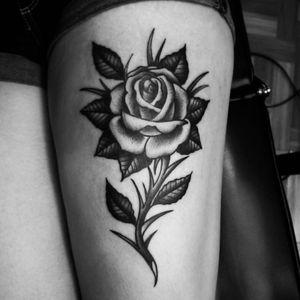 Rose #rosetattoo #blacktraditional