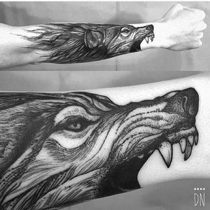 #dreamtattoo http://worldofwolvesofficial.tumblr.com/post/142147065786/awesome-tattoo-done-by-dinonemec-shoutout-wolf