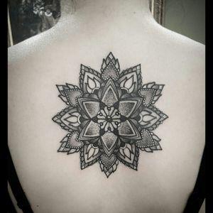 Mandala I did yesterday! #mandala #mandalatattoo #mandalatattoos #blackwork #blackworktattoo #dotwork #dotworktattoo #ink #tattoo #tattoodesign #ornaments #ornamental #ornamentaltattoo #ornament #geometry #geometric #geometrictattoo