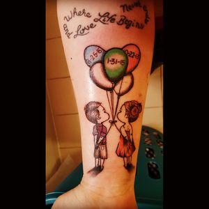 my most recent ink from November #ilovemykids #family #familytattoo