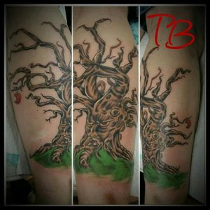 Angry orchard tree I did at Freedom Tattoo in Hixson TN Thanks for looking  #chattanoogatattoo #tennesseeartist #treetattoo #angryorchard #fusionink #inkedforlife #tree #tntattoo #tntattoos #chattanoogaink
