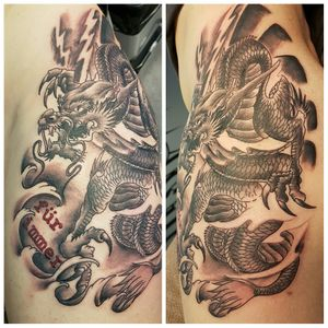 Asia dragon....one session.... used #worldfamousink #cheyenehawk #fantomneedles #elektrumstencilfluid