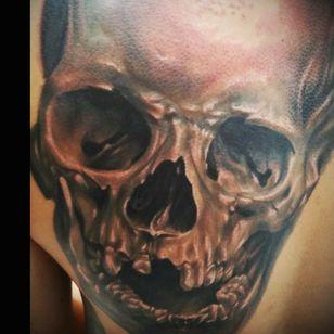 Skull #blackandgrey #2ndsession #drazpalaming #skull #Philippines
