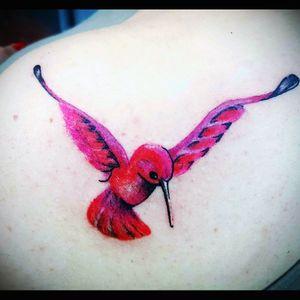 #hummingbirdtattoo #hummingbird #tattoos_of_instagram #notmyartwork #red