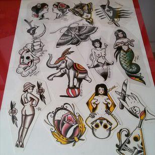 Flashes disponíveis para tatuar #tattoo #tattoos #tatuagem #customtattoos #loveclassictattoos #traditionaltattoos #oldschooltattoo #tattooart #tattooartist #tattoorj #tattooflash #flashart #tattooflash