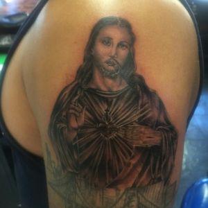 #jesuschrist#blackandgreytattoo #jjtattoos #tattooartist #bayareatattooartist