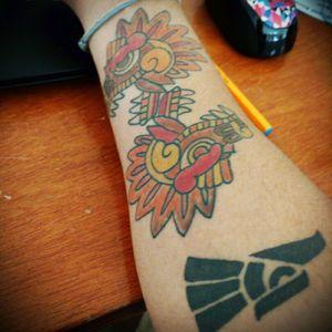 #tattoo#hechoenmexico#colors#mexicantattoo#quetzalcoatl#mirror