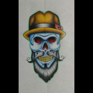 #skull #design #art #pty #Panamá #prismacolor