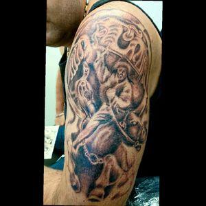 #graywashtattoo #tattoo #hungary #horsetattoo