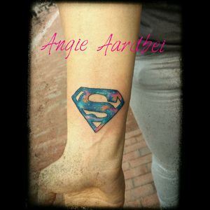 Practicing with Galaxy colors #galaxy #supermantattoo  ##superman #practice #tattooapprentice