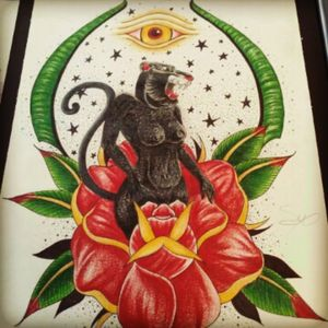 #neotraditional #drawing #prisma #prismacolor #apprentice #roses #cougar #Boca #bocaraton #southflorida #empireink #empiretattoo #empireinklifestyle