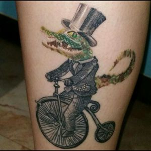 Mr. Alligator #alligatortattoo  #alligator #funnytattoos