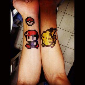 Free Hand Retro Pokemon w. pens x sharpies #pokemon #Retro #sharpie #tattoodesign