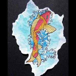 #sketchbook #watercolor #koi #koipainting