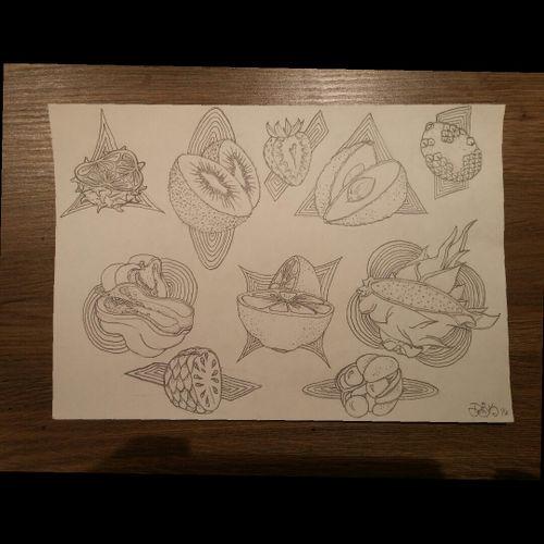 #sketchbook #fruitsketch #food #fruittattoo