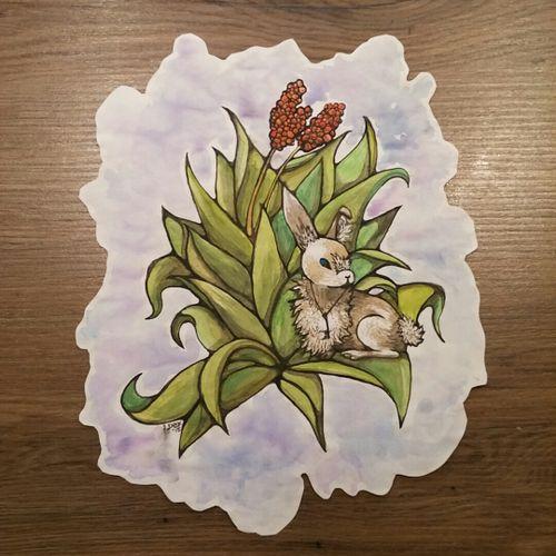 #sketchbook #watercolor #rabbit