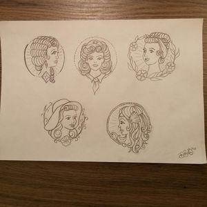 #sketchbook #portrait #oldschoolladies
