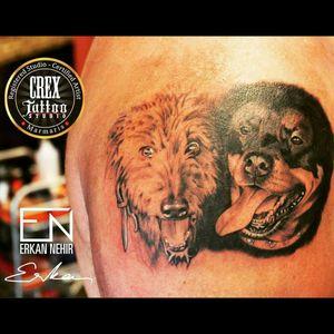 Today's work. 😉 #dog #dogs #dogtattoo #dogtattoos #tattoo #tattoos #realism #art #ink #inked #black #rotweiler #animal #tattooartistmagazine @tattooartistmagazine #erkan #nehir #erkannehir #tattooartist #dövme #dövmeci #marmaris #crextattostudio #turkey