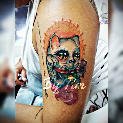 #tattoocat #tattoocolor