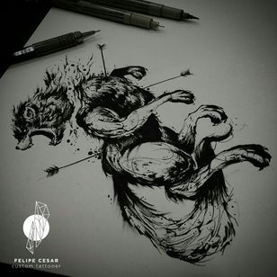 - Stark. #felipecesar #blackwork #blackworkers #blackworktattoo #blacktattoo #dotwork #linework #brazil #braziliantattooers #gameofthrones #gameofthronestattoo #drawing #pointillism #illustration #ink #nankin #wolf