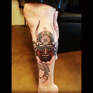 Samurai cover up by Mark Benson of Christchurch New Zealand