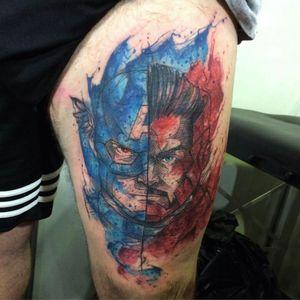 #watercolor #nerdtattoo #watercolortattoo #tattooartist #tattooart #best #JohnNeedle #RJ