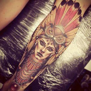 #Indianwomantattoo #owl #incredibletruink
