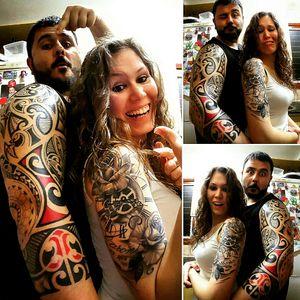 My maori tatto and wife's realist tatto